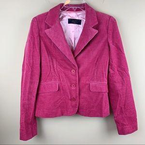 Juicy Couture pink corduroy blazer - EUC!